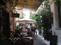 In the shady streets of the old town you can find a small restaurant at every step