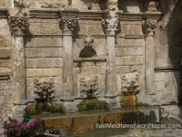 The richly decorated fountain Rimondi is located in the heart of the city of Venetian town