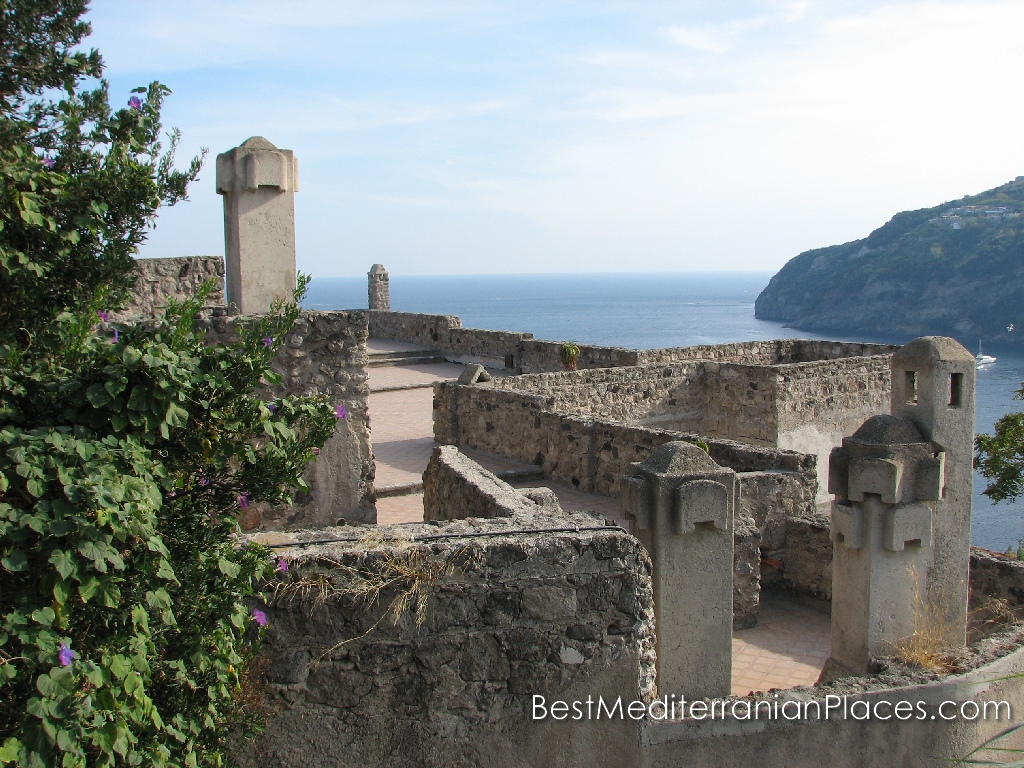 Fortification of the castle from the island of Ischia