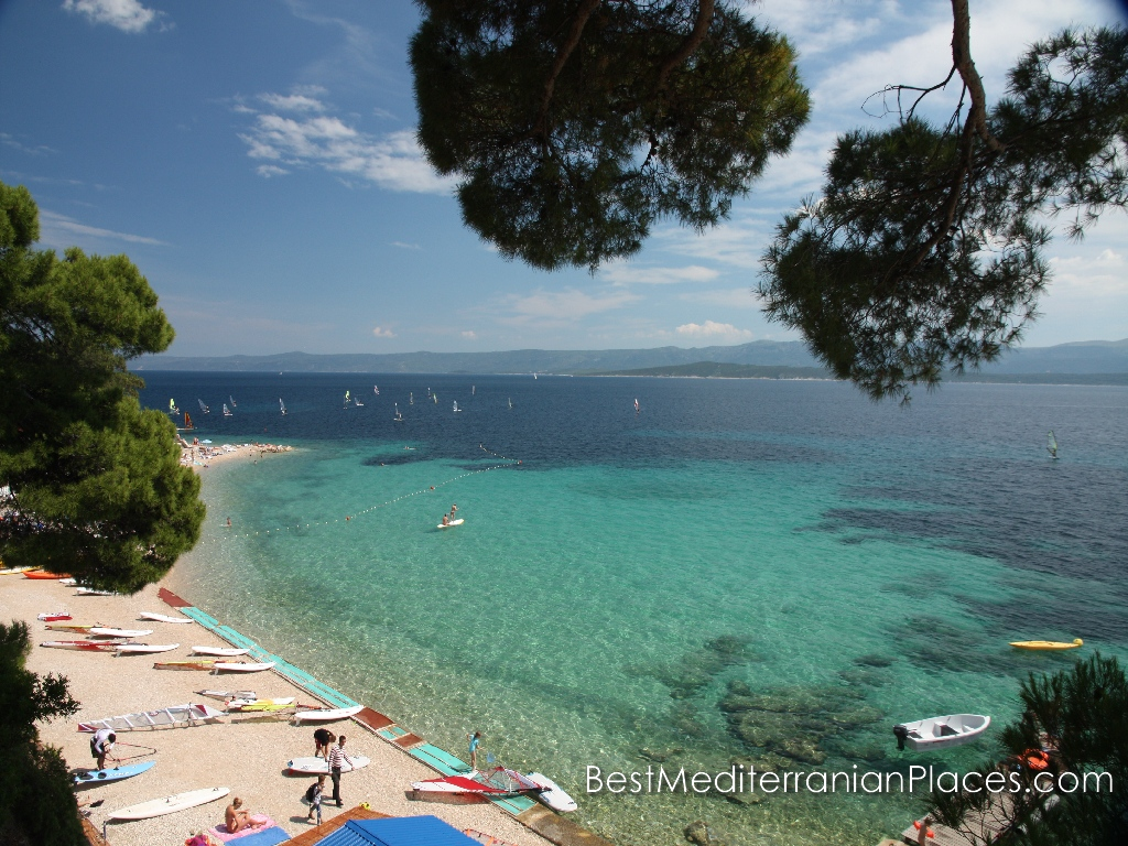 On the island of Brac, you will find beaches for very different taste from sandy to pebbly