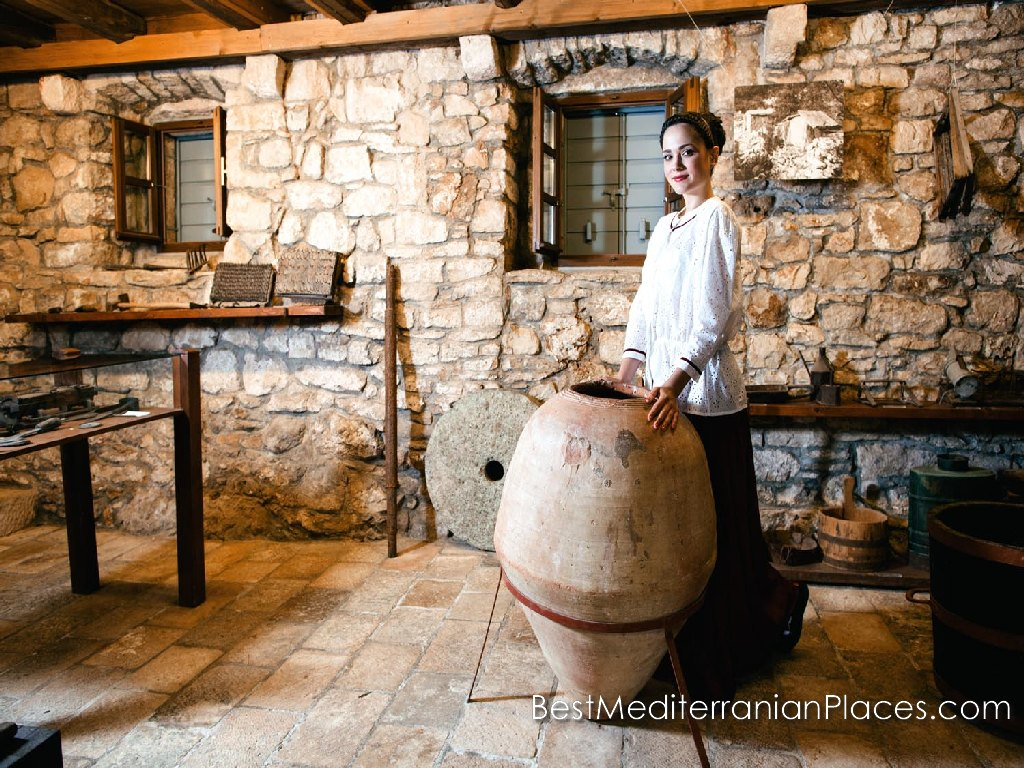On the territory of the village is a museum of the history of olive oil production