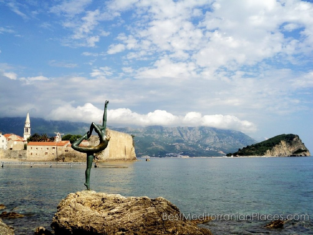 The symbol of Budva old town - a tourist destination in Montenegro