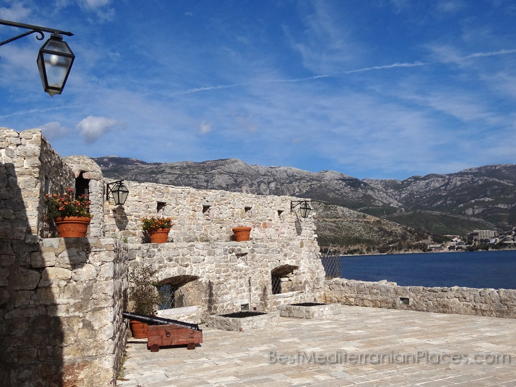 Grey stones covered with the dust of ages and the blue sea - it is an old Budva