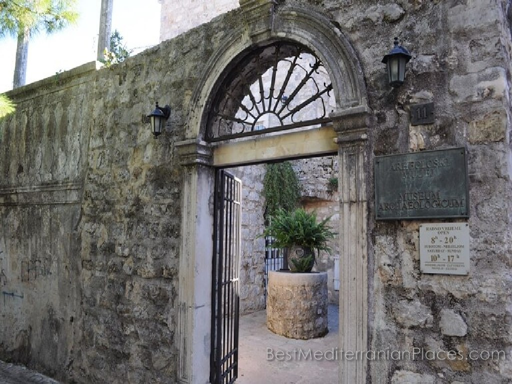 Entrance to the archaeological museum in Budva, Montenegro