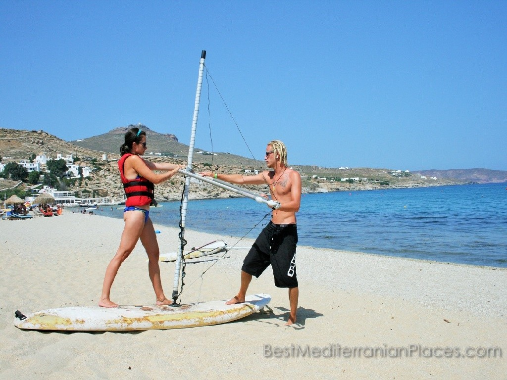 The beaches of Budva visitors can go windsurfing or trained instructor