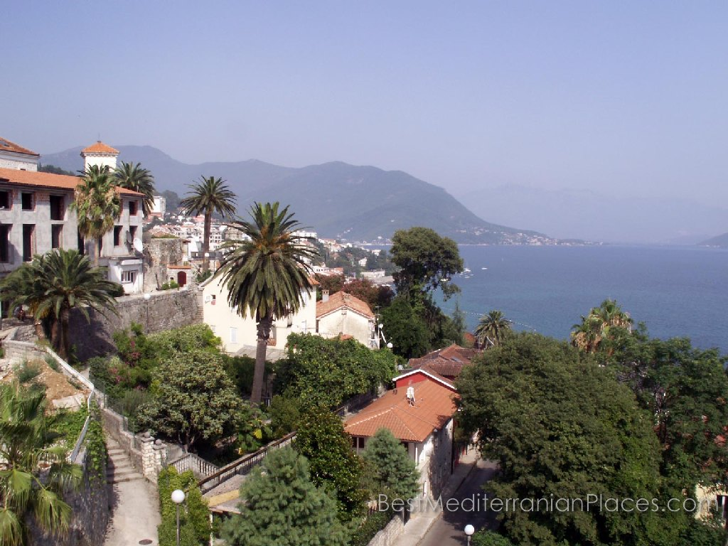 Panorama of Herceg Novi and the fjord, which opens from the walls of the fortress Sea