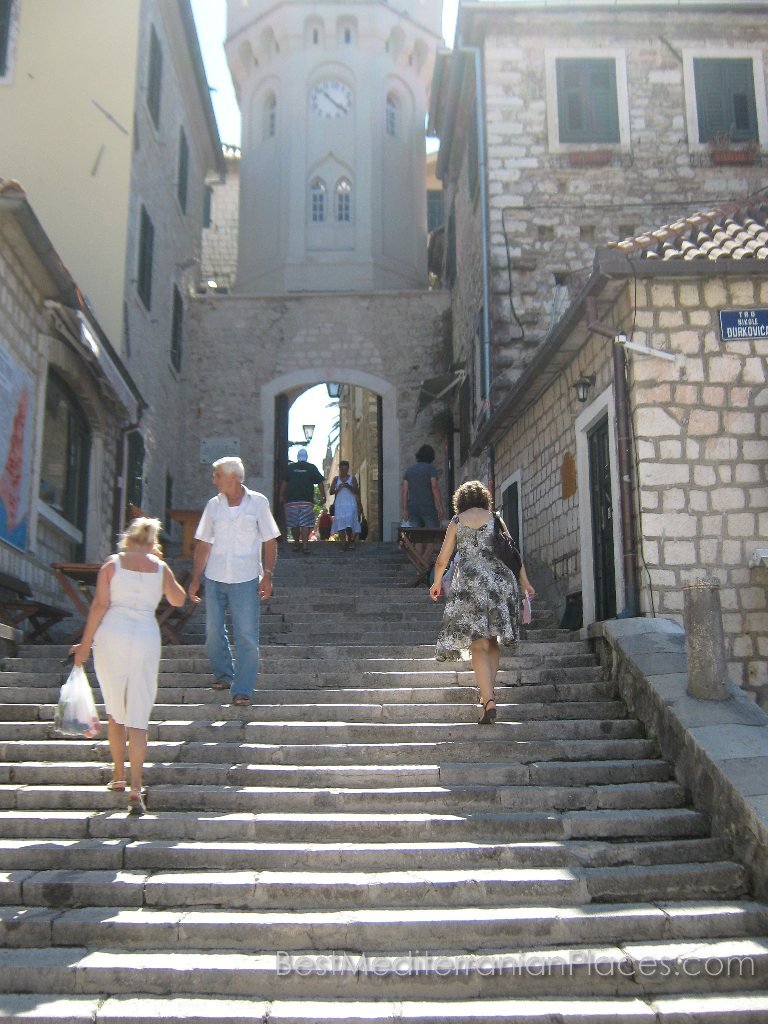 The streets of the old town consists of some stairs