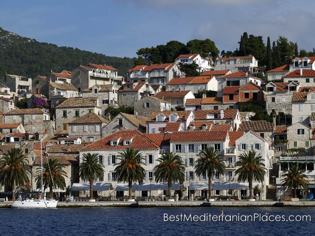 The typical architecture of the houses and coastal villas Hvar