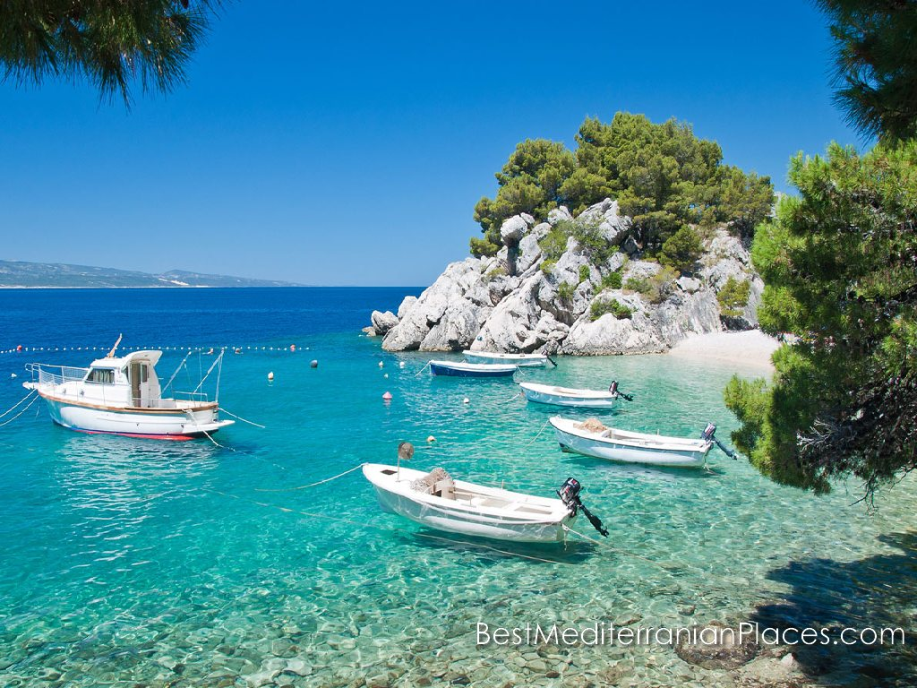 Amazingly clear emerald waters beaches of Hvar