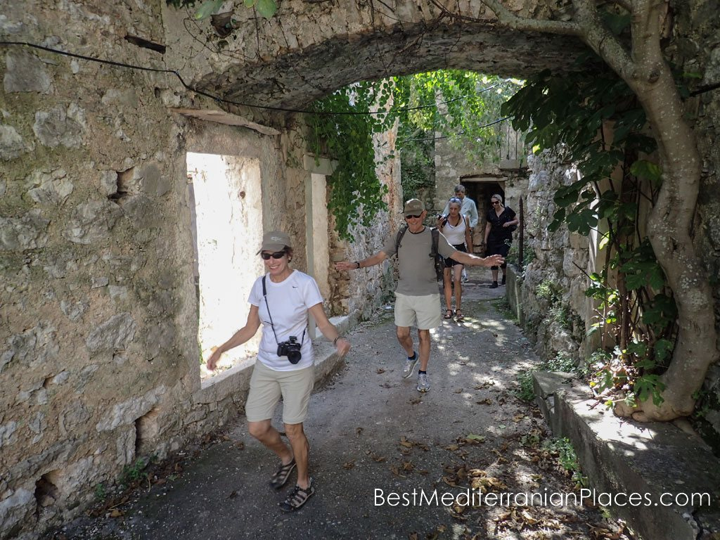 During a tour of one of the oldest villages of the island of Hvar