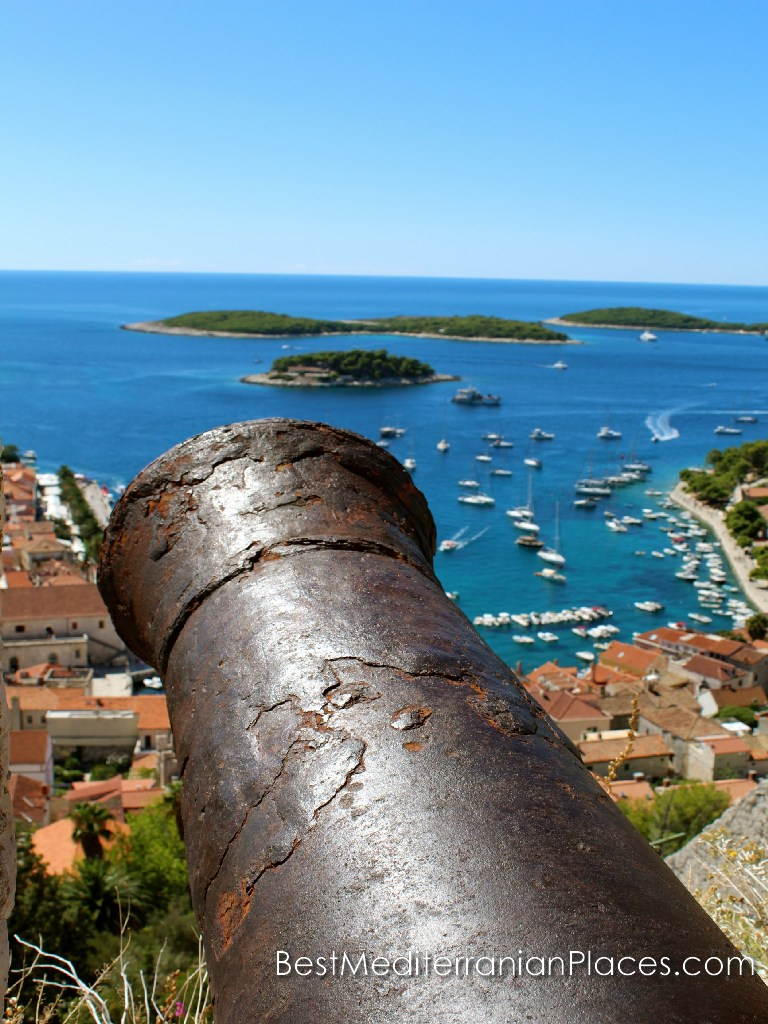 The ancient fortress town of Hvar cannon still guard the peace of the residents