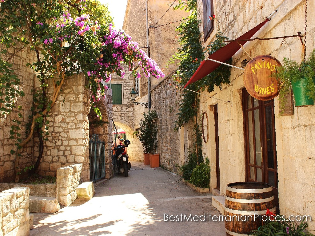 Old streets with wine bar