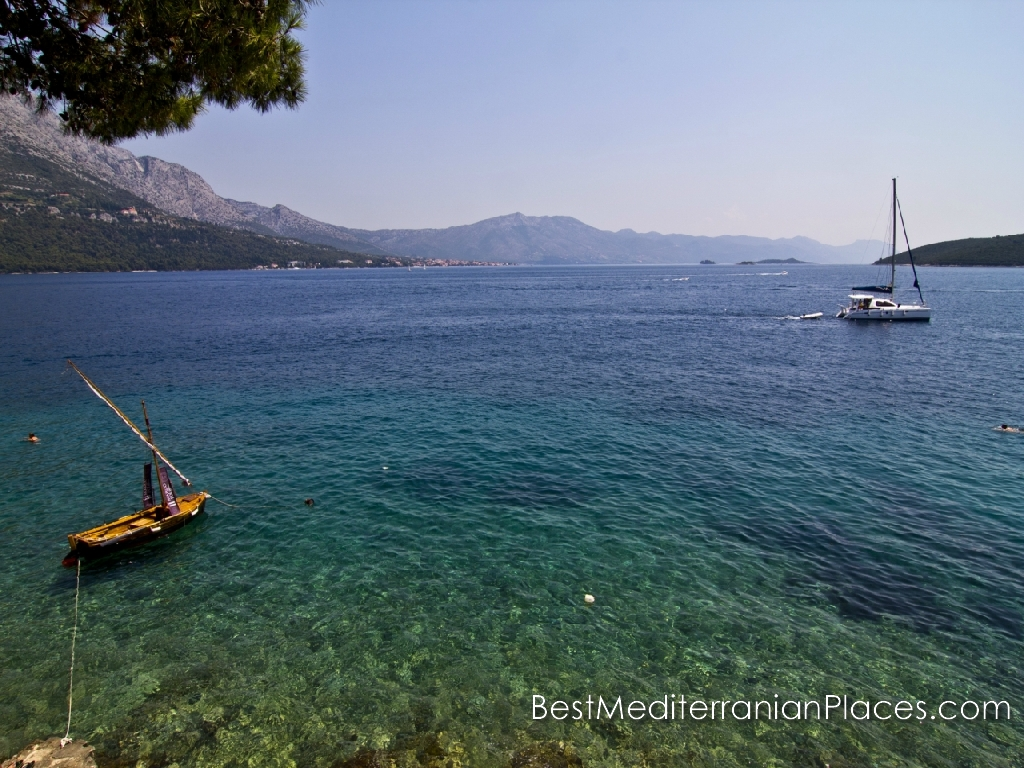 Purest emerald waters of the Adriatic are waiting for you on the island of Korcula, Croatia