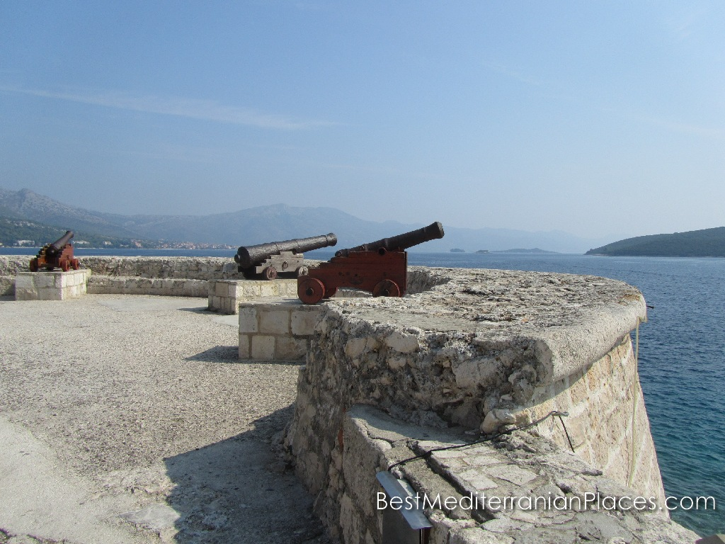The guns of the Korcula island fortress