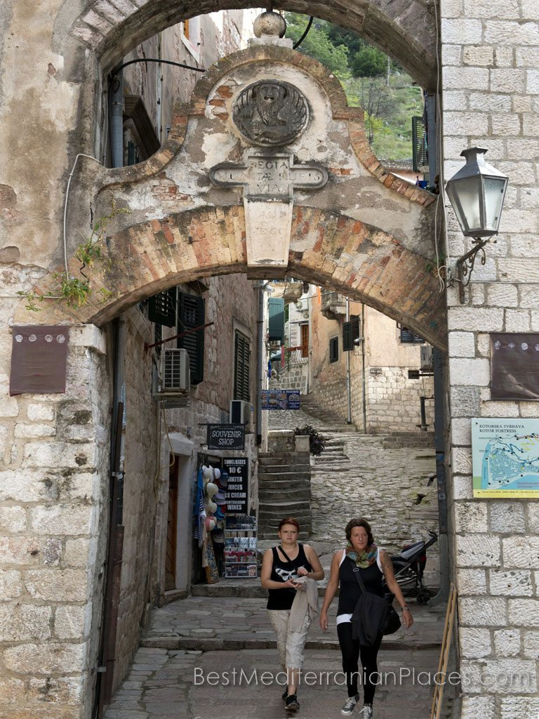 Double archway to Kotor fortress