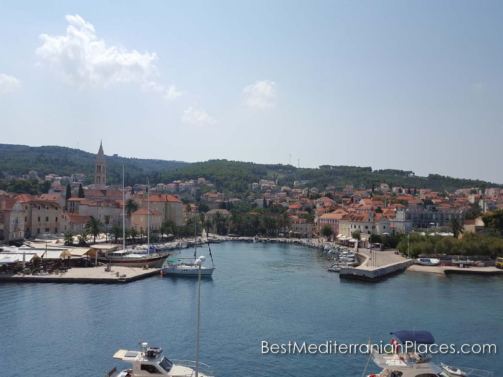 Berth for boats of the old town of Makarska