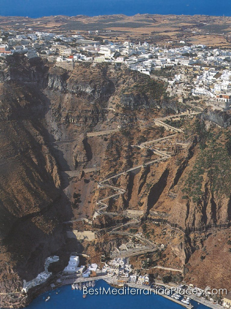 Look on Santorini from height
