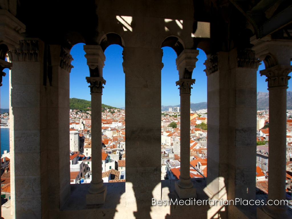 View of the old city from the bell tower