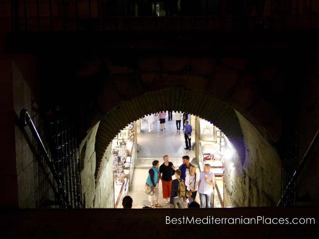 Entrance to Diocletian's Palace's underground complex