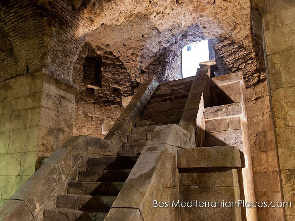 One of the staircases leading to Diocletian's Palace's underground