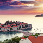 The island and village of Sveti Stefan