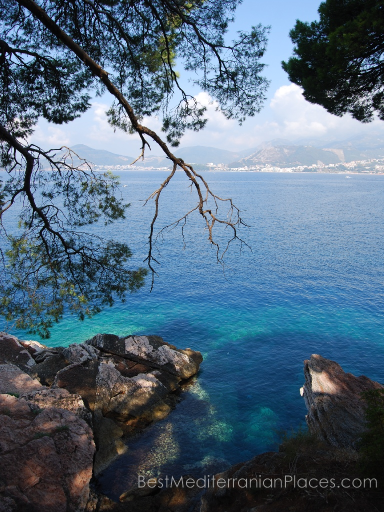 Sea Color in Montenegro has this unusual color, as if the water was lowered, and the sky a little added malachite