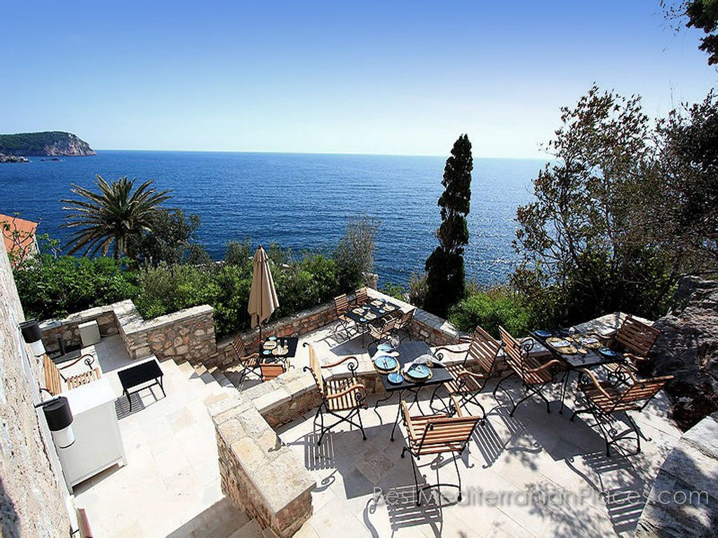 Panorama of the coast of the Adriatic Sea from one of the villas Sveti Stefan resort
