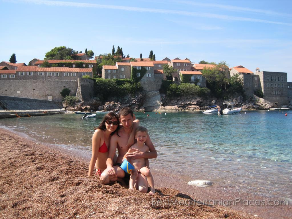 Sveti Stefan, with its beautiful beaches and shallow sea is one of the best resorts of the Adriatic for a family holiday