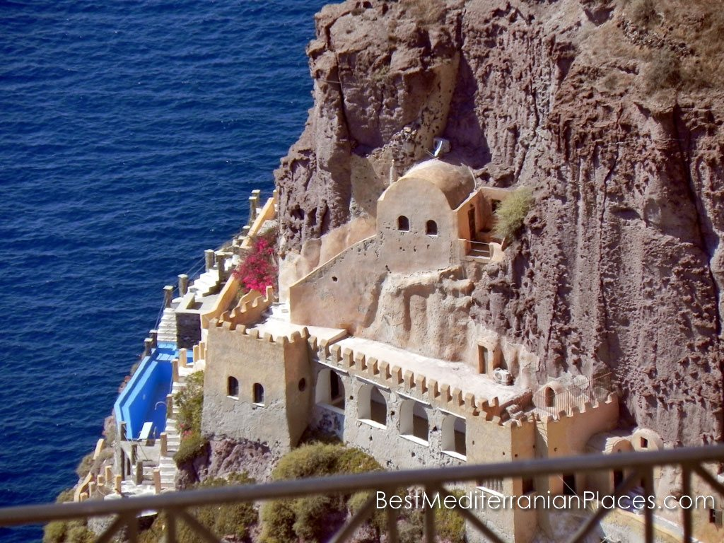 Buildings and churches carved into the cliffs