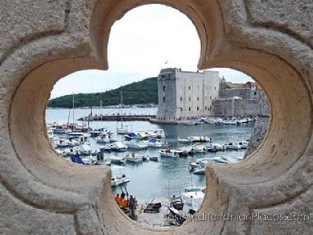 Magical views of one of the Dubrovnik fortifications and marina