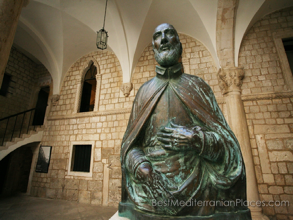 Statue of Miho Pracat at the Rector's Palace Dubrovnik