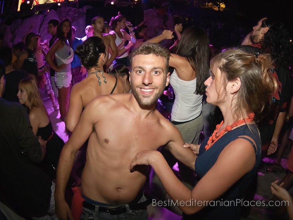 A party in a night club in Dubrovnik