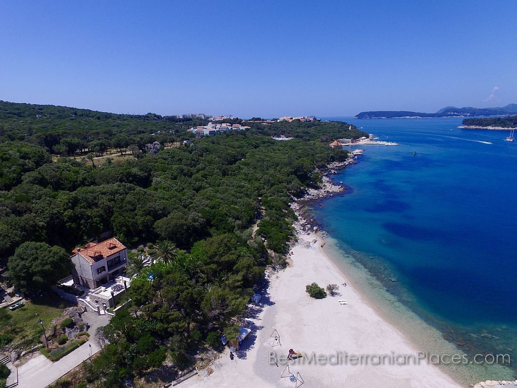 Pebble Beach of Villa Franika near Copacabana beach