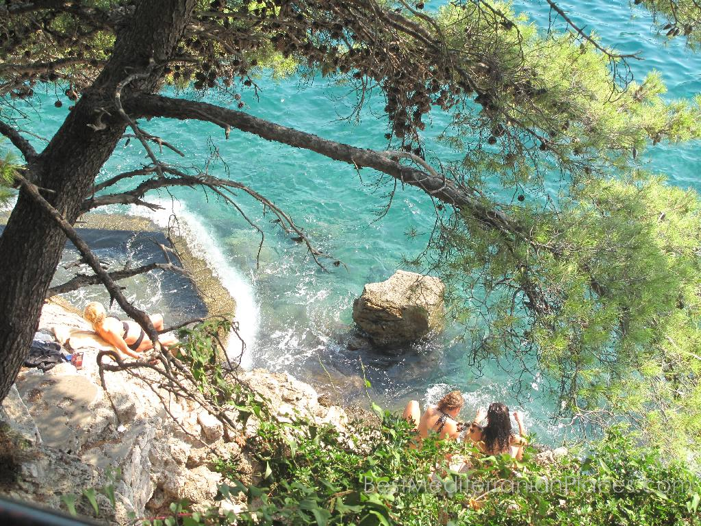 You can find a lot of small beaches similar to this one, on the peninsula Lapad and Babin Kuk Dubrovnik
