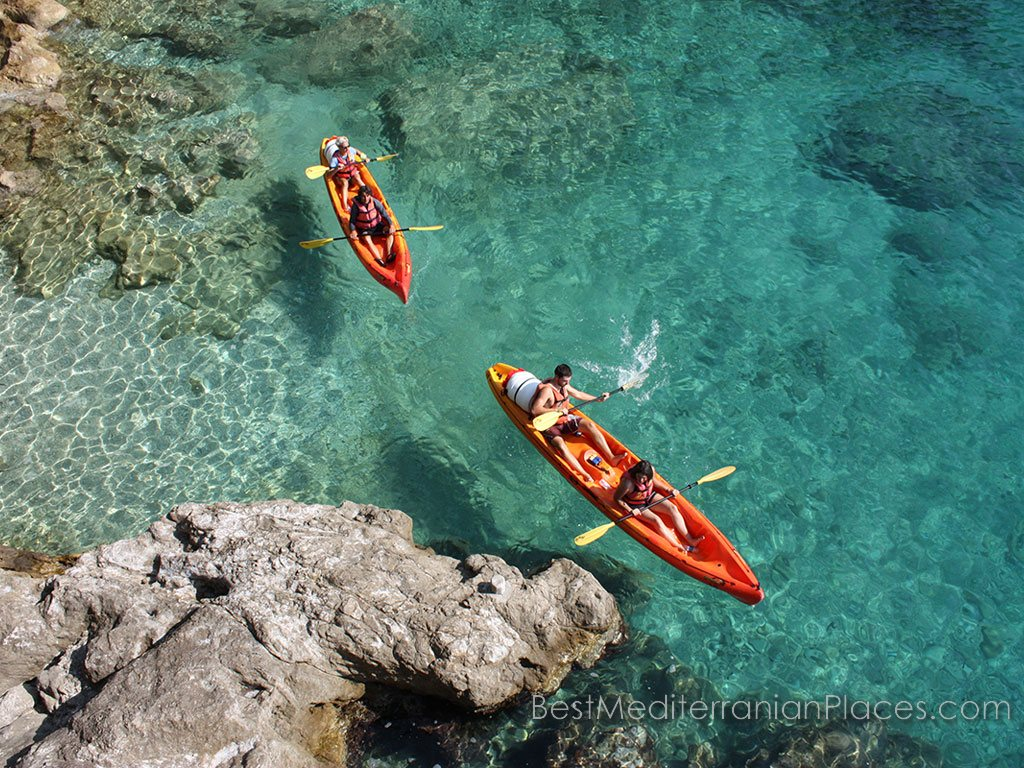 Kayaking allows you to see the beautiful Dubrovnik, Croatia from the sea.
