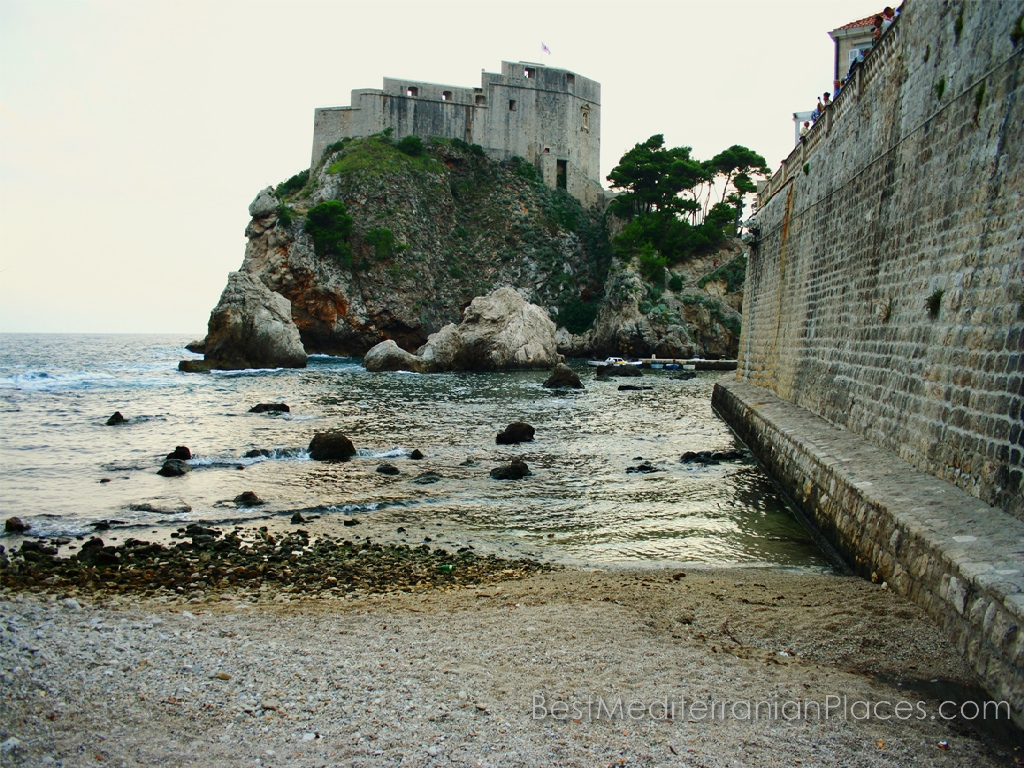 In the past century, the old entrance to the harbor of Dubrovnik was impregnable