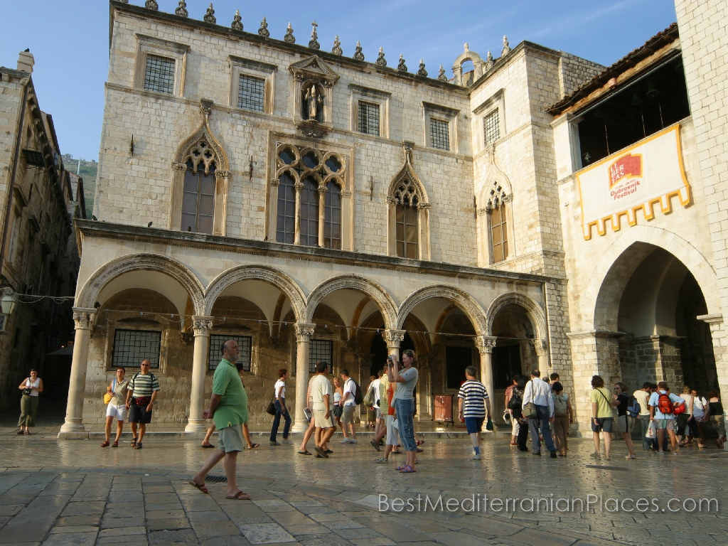 The Sponza Palace, also called Divona, is a 16th-century palace in Dubrovnik, Croatia