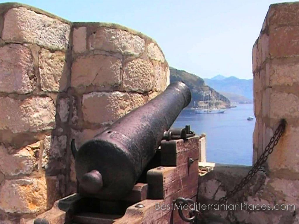 Formidable fortress guns command respect pirate of the Middle Ages