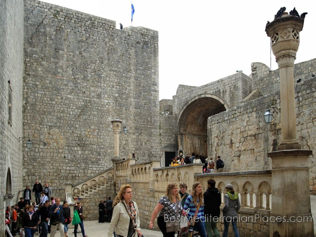 So look Pile Gate - the main entrance to the Old City of Dubrovnik in Croatia, from the inside