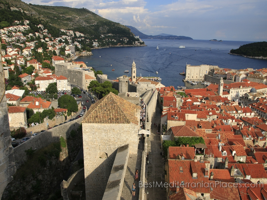 Walking through the fortress walls you can see the old Dubrovnik from the top