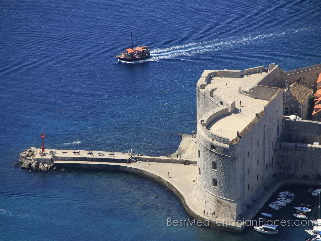 One of the bastions of the fortress at the entrance to the harbor with a bird's-eye view
