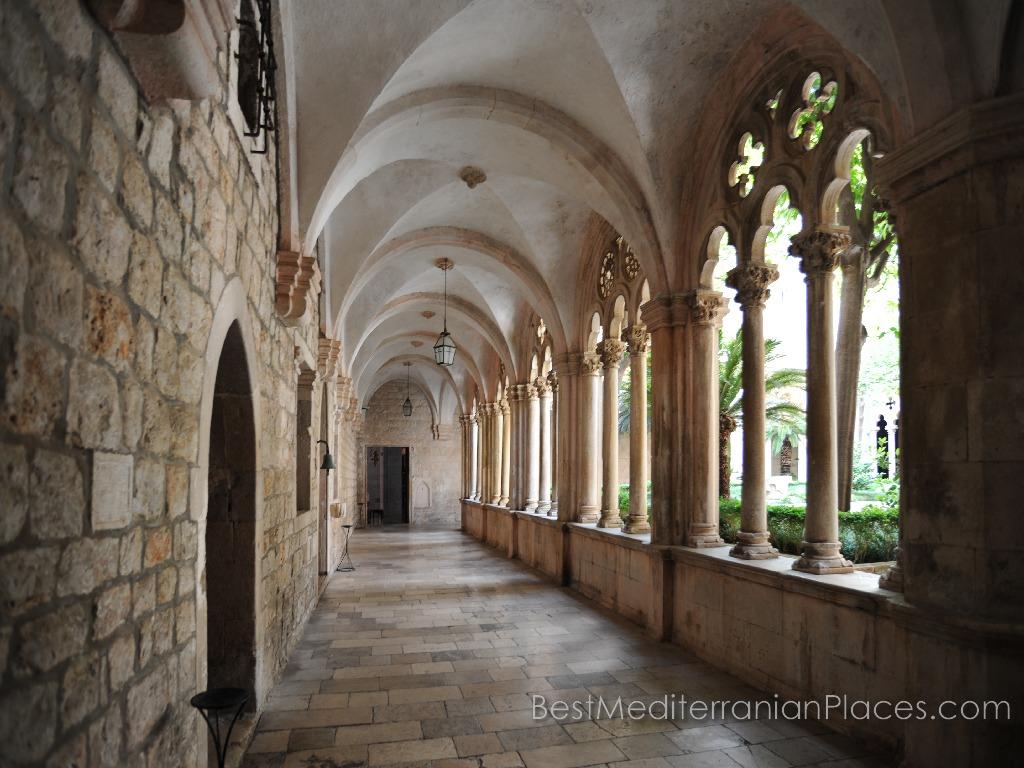 Cloister of the Dominican monastery in Dubrovnik