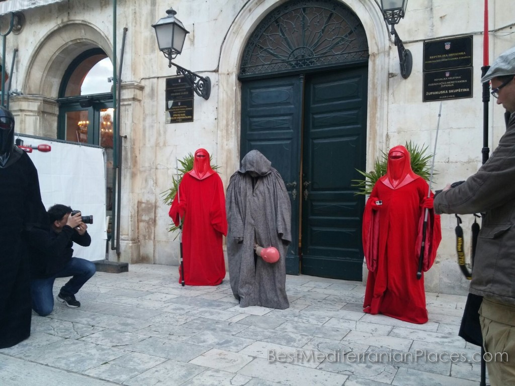 The streets and squares of Dubrovnik often played scenes from the legends of the Middle Ages, which are very popular with tourists