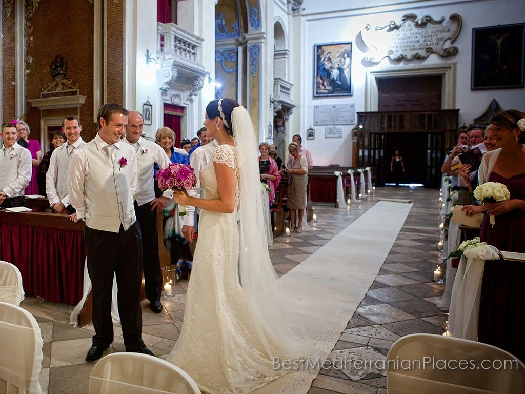 Wedding in the cathedral of Dubrovnik