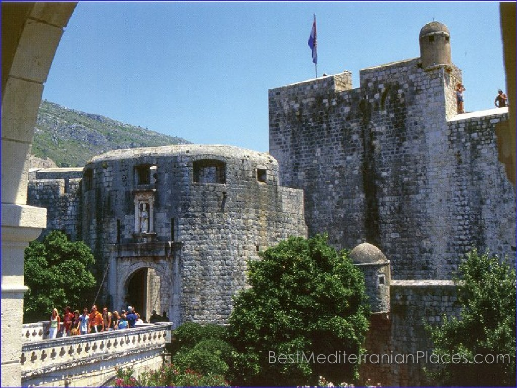 The oldest systems of fortifications around Dubrovnik old town